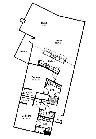 1,985 sq. ft. to 2,375 sq. ft. 5B3 floor plan