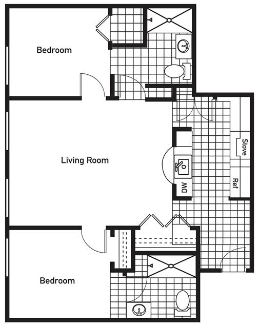 1,061 sq. ft. PalmValley floor plan