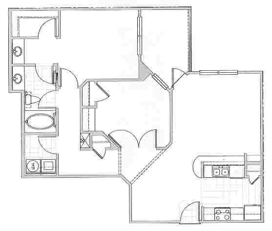 1,012 sq. ft. Majors floor plan