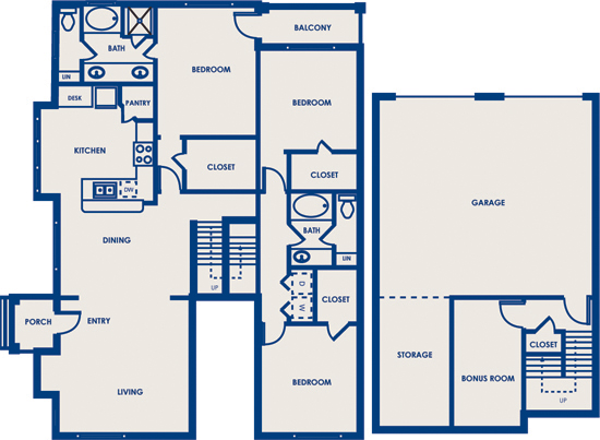 1,730 sq. ft. 32A floor plan