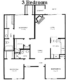 1,200 sq. ft. El Dorado floor plan
