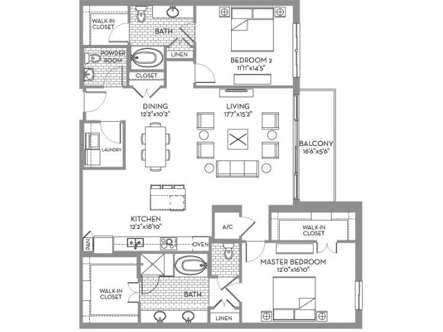 1,779 sq. ft. Preston(B.6) floor plan