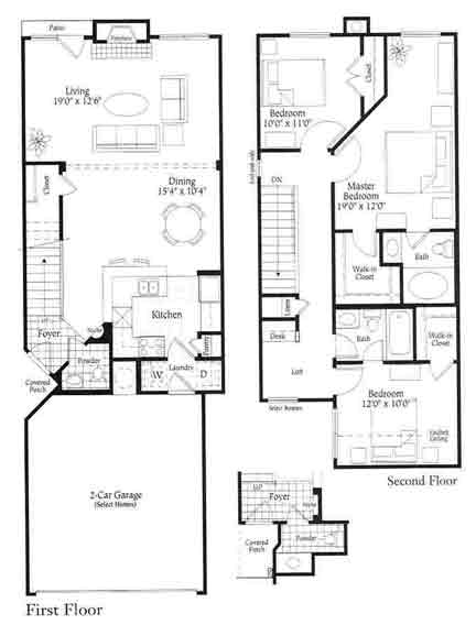 1,454 sq. ft. C1 floor plan