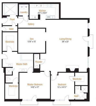 2,400 sq. ft. 21 floor plan
