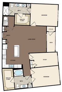 1,406 sq. ft. C1aa floor plan