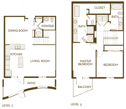 1,687 sq. ft. B2.5BTH floor plan