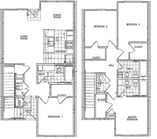 1,628 sq. ft. 30% floor plan