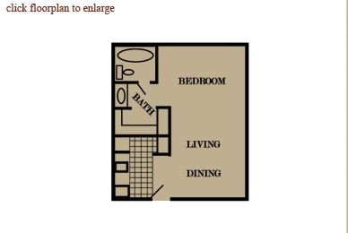 410 sq. ft. floor plan