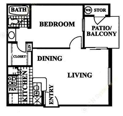 532 sq. ft. Cyprus floor plan