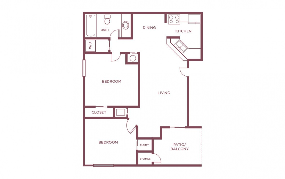 790 sq. ft. C floor plan