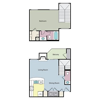 800 sq. ft. GOVERNOR floor plan