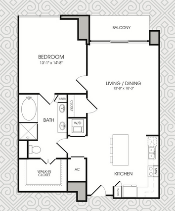 935 sq. ft. to 960 sq. ft. A11 floor plan