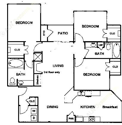 1,363 sq. ft. Brendan floor plan