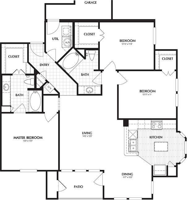 1,439 sq. ft. LOWELL/G floor plan