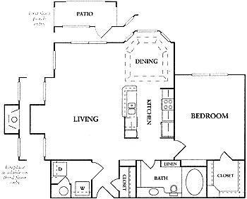 812 sq. ft. A2a floor plan