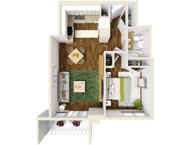 619 sq. ft. floor plan
