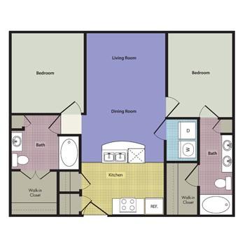 1,041 sq. ft. Altamura floor plan
