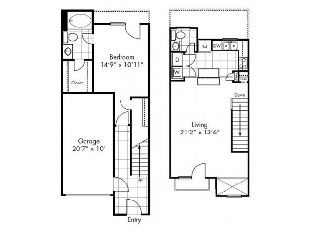 964 sq. ft. Sweetwater floor plan