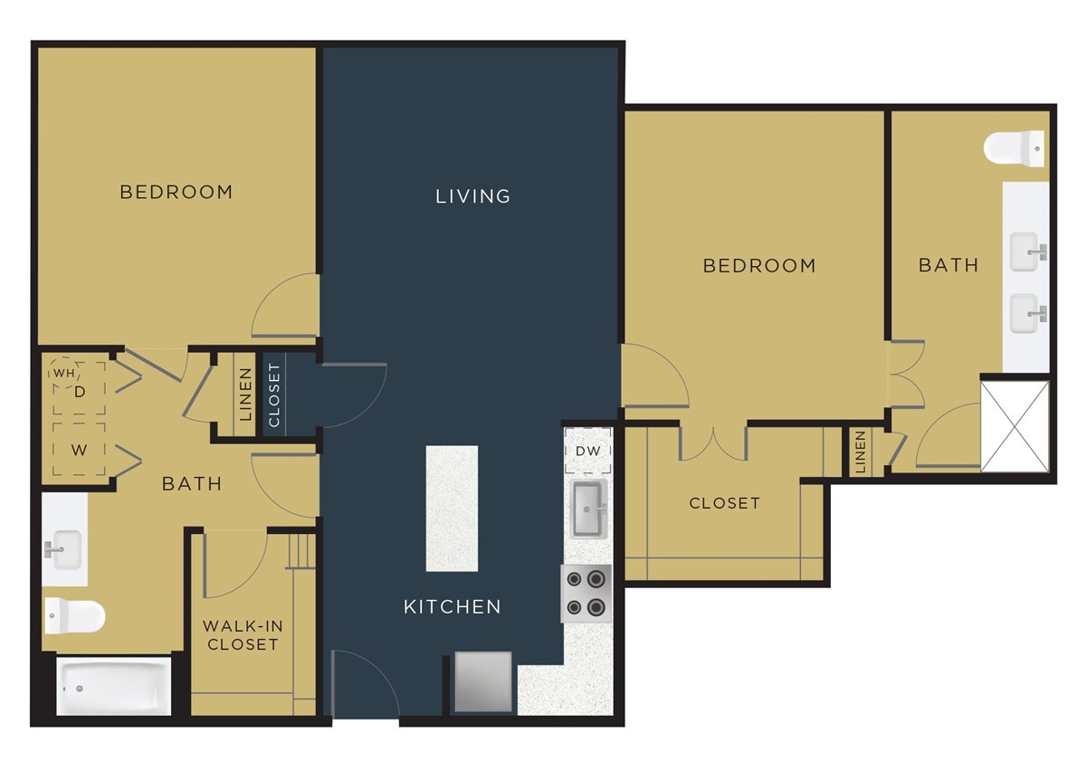1,149 sq. ft. B3 floor plan