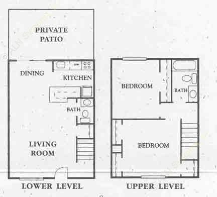 900 sq. ft. All Bills floor plan