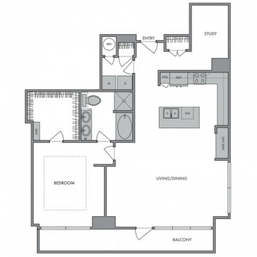 1,322 sq. ft. G floor plan