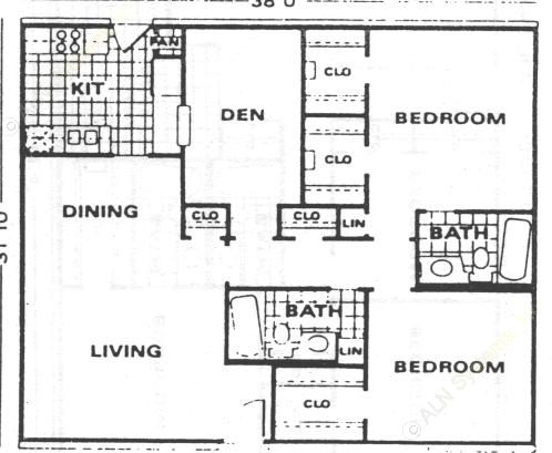 1,209 sq. ft. B3 floor plan