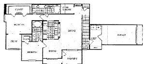 1,408 sq. ft. N floor plan