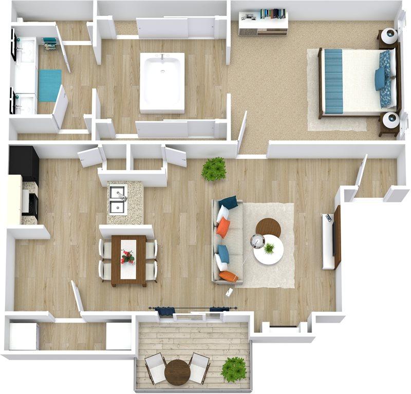 914 sq. ft. Marilyn floor plan