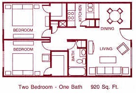 920 sq. ft. G floor plan
