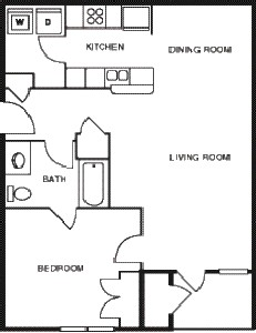 786 sq. ft. Mesquite/60 floor plan