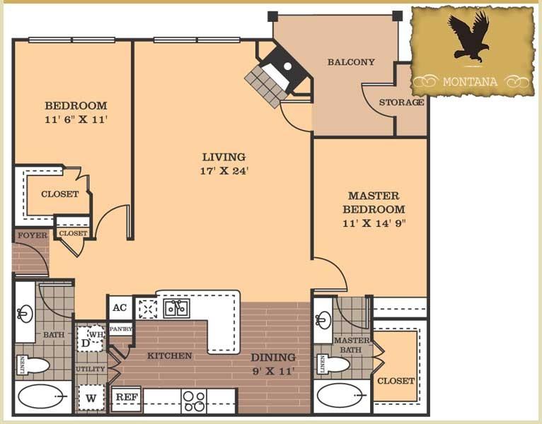 1,336 sq. ft. Montana floor plan