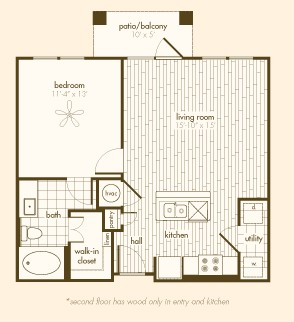 701 sq. ft. A1.A floor plan