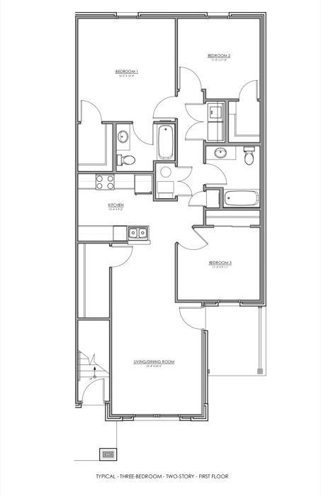 1,276 sq. ft. 30% floor plan