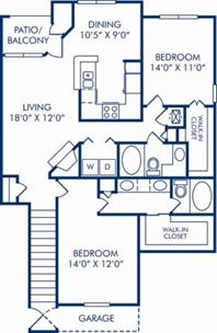 1,220 sq. ft. F (GAR.) floor plan