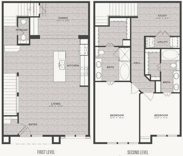 1,748 sq. ft. B3 floor plan