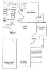 715 sq. ft. A/60% floor plan