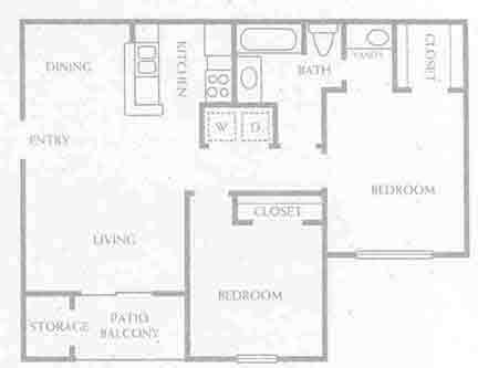 822 sq. ft. B1-60% floor plan