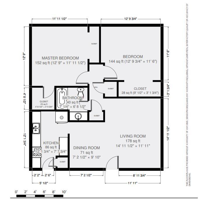 895 sq. ft. floor plan