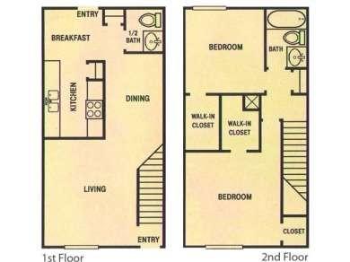 1,288 sq. ft. floor plan