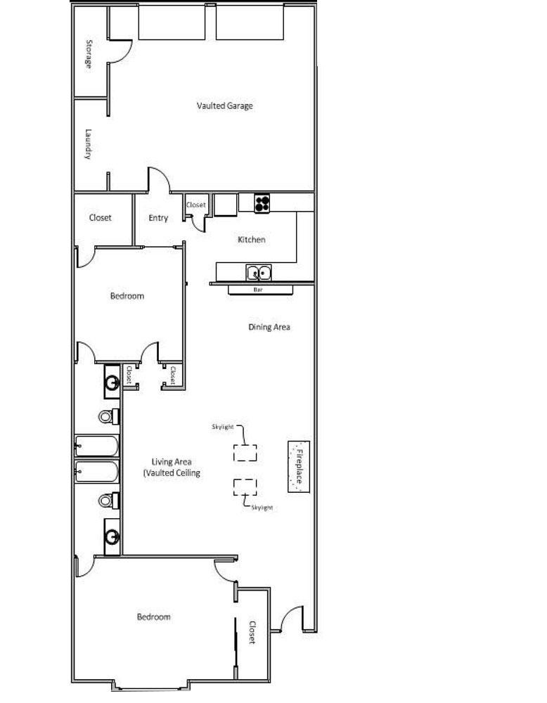 897 sq. ft. to 904 sq. ft. B/C floor plan