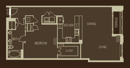 1,207 sq. ft. A11 floor plan