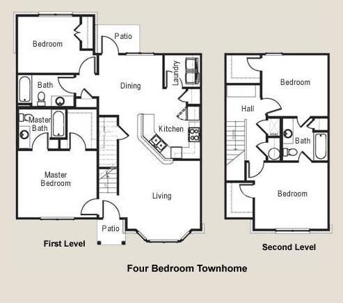 1,581 sq. ft. MKT floor plan