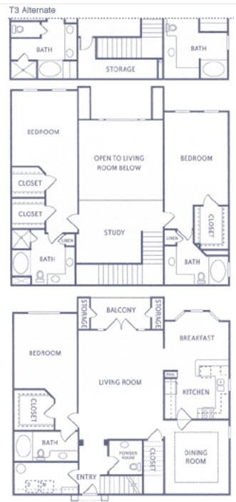 2,699 sq. ft. T3 floor plan