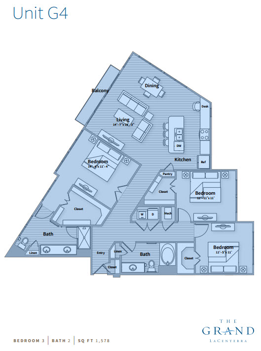 1,578 sq. ft. G4 floor plan