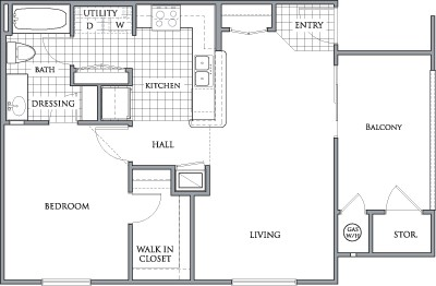 706 sq. ft. to 720 sq. ft. PREAKNESS/60% floor plan