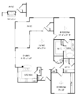 1,200 sq. ft. B2/Portola floor plan