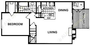 748 sq. ft. Ansleigh floor plan