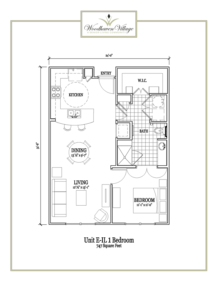747 sq. ft. floor plan