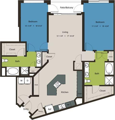 1,576 sq. ft. B9 floor plan