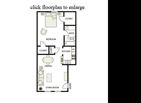 675 sq. ft. A7 floor plan